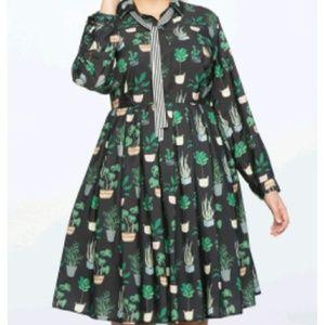 Eloquii Cactus Dress Size 18